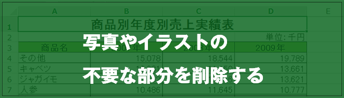 excel 画像 トリミング